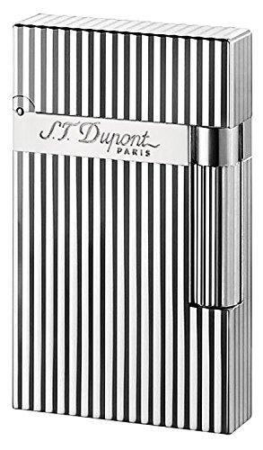 S.T. Dupont d-016817Ligne 2Feuerzeug–Vertikale Linien Silber