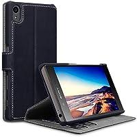 Sony Xperia Z5 Cover, Terrapin Leder Tasche Case Hülle im Bookstyle mit Standfunktion Kartenfächer für Sony Xperia Z5 Hülle Schwarz