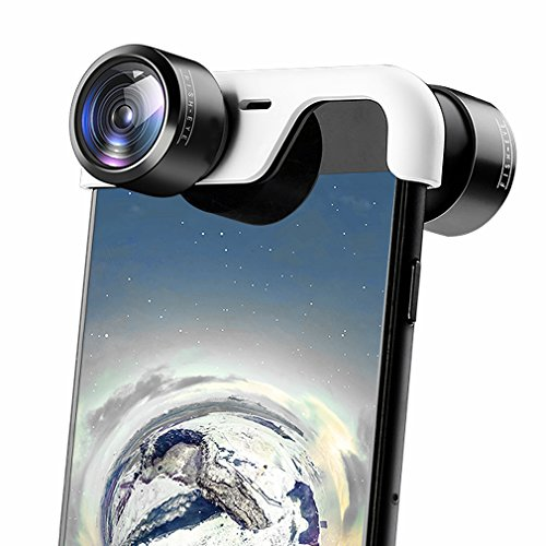 First2savvv 360 gradi Lente panoramica VR Fotocamera Set Obbiettivi Per iPhone 8 Plus & iPhone 7 Plus + pezza per pulire LEN-Iphone 8 Plus-360-05G11