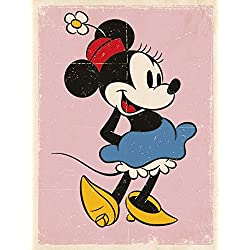 "Minnie mouse ""retro lienzo Prints, multicolor 40 x 50 cm"