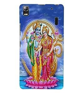 ColourCraft Lord Vishu with Maa Laxmi Design Back Case Cover for LENOVO A7000 TURBO