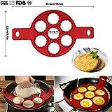 POAO Pancake Stampi in Silicone,Antiaderente Uova Stampi Pancake,Mould Cake Maker Egg anello, Fantastic Fast & modo semplice perfetto Pancakes