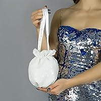 Bolso Velvet Terciopelo saten novia boda fiesta navidad vestido de fiesta blanco lentejuela