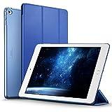 ESR Funda para iPad Air 2, Cover Case para Apple iPad Air 2 con Auto-Desbloquear y Soporte por Cierre Magnético de Plástico Transparente Esmerilado Duro y Cuero Sintético [Compacta] [Ligera] - Azul Océano