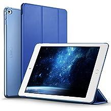 ESR Funda iPad Air 2 con Auto-Desbloquear y Función de Soporte [Ligera] de Cuero Sintético y Plástico Duro Transparente Esmerilado Cover Cáscara para Apple iPad Air 2 -Azul Marino