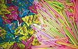 1200 Teile Neon Sticks/Puffreis Pyramiden Mix ! Wurfmaterial Karneval Fasching