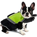 Petneces - Chaleco salvavidas portátil para perro, con reflectante de seguridad para la vida de mascotas
