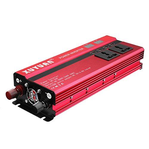 Tutoy 5000W 12V/24V Dc bis 110V/220V Ac Solar Stromwandler LED Modifiziert Sinus Konverter Rot - #4