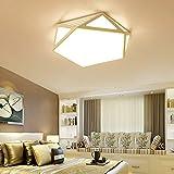 geometrische deckenleuchte schlafzimmer lampe deckenleuchte der moderne led - fernbedienung kreativen raum lichter dimmen,Der Weiße kasten warmen Gelb 38cm
