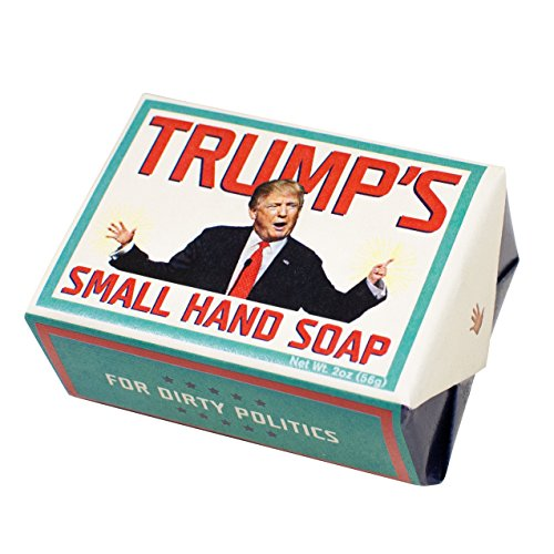Trump's Small Hands Soap - Republican and Democrat - 1 Mini Bar of Soap - Made in The USA (Mini-bar Seife)