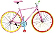 MCLS Unisex Adult RBY53 Road Bike - Pink/Lime, 26 inch