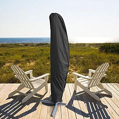 Sonnenschirm Hülle,3M Große Sonnenschirm Abdeckung Wetterfeste Outdoor Regenschirm Abdeckung Cantilever Bahamas Serie für Ampelschirm,Ampelschirm hülle mit Aufbewahrungstasche von GEMITTO bei Gartenmöbel von Du und Dein Garten