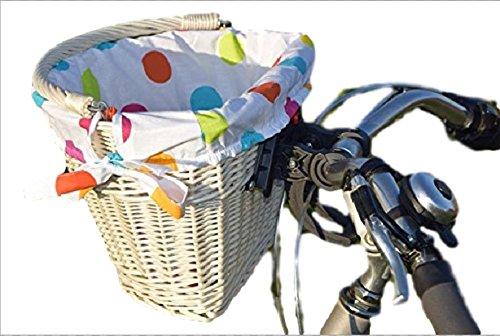 123home24.com Weidenkorb für Ein Fahrrad aus natürlichen Weißen Wicker (5) (Fünf Weidenkörbe)