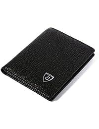 XCSOURCE Homme Portefeuille Cuir Faux Mince Billfold avec 3 Fentes pour cartes de crédit + 1 ID Fenêtres Noir MT247