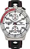 Chronograph-Herren-Armbanduhr Rally Timer I in silber / schwarz von Elysee | Gehäuse aus Edelstahl | Stilvolles Armband | Herrenuhr mit Stoppfunktion und Datumsanzeige | Quarzuhrwerk