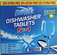 Duzzit Dishwasher Tablets 300G 15 Tablets X 20G Each 5 In 1 Detergent Rinse