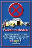 Parkverbot Parken verboten Schild Schilder -53- Sonst Ebay! 29,5cm * 20cm * 2mm, ohne Befestigung