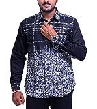 PP Shirts Men Cotton Casual Shirt ( Blac...