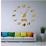 Orologio da parete Fuuny Topolino e formaggio moderno cartone animato animale bambini camera parete arte decorazione topolino del formaggio lunatico orologio da parete