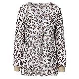 TAMALLU Sweater Jacke für Frauen Mode 2019 Warm Plüsch Strickjacke Tasche Coat(Weiß,XL)