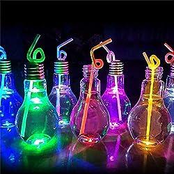 Unbekannt Vaso con luz LED en Forma de Bombilla incandescente.