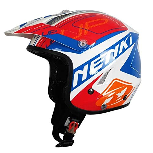 Downhill Motocross Helm Cross Country Extreme Motorradhelm Fahrradhelm Blau Rot L