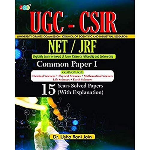 UGC-CSIR NET/JRF Common Paper-I 15 Years Solved Papers (With Explanation)