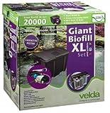 Velda 126406 Durchflussfilter für Teich bis 20.000 Liter inkl. Pumpe, 18 Watt UV-C, Giant Biofill XL Set 6000