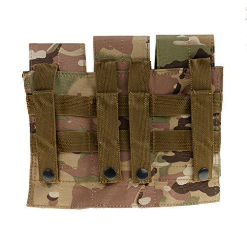 Gazechimp Taktische Magazintasche mit 3 Single Pouch, im Freien Aktivitäten Beutel, Praktisch und Hochwertig Tarnung