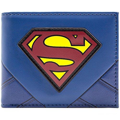 Superman Aufrüsten Original-Logo Blau Portemonnaie Geldbörse (Superman Original Kostüm)