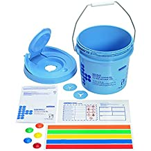 Wettask 7919roll Wiper dispenser secchio, blu (confezione da 4)
