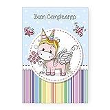 Biglietto Auguri Compleanno Unicorno