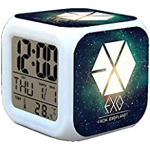 R Timer New Anime Korean EXO Alarm Clock LED Light Nightlight Accessories For Teenager E