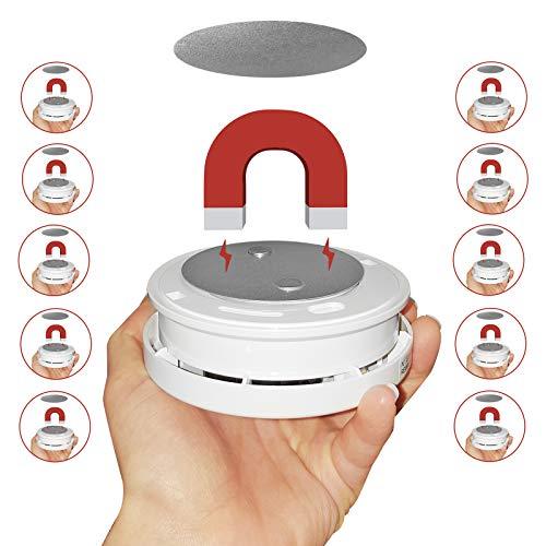 10 x Magnetbefestigung Rauchmelder Magnethalterung Feuermelder 3M Klebebefestigung
