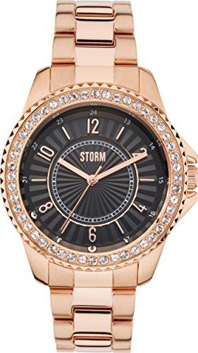Ladies STORM Zirona Crystal Watch ZIRONA-CRYSTAL-RG-BLACK