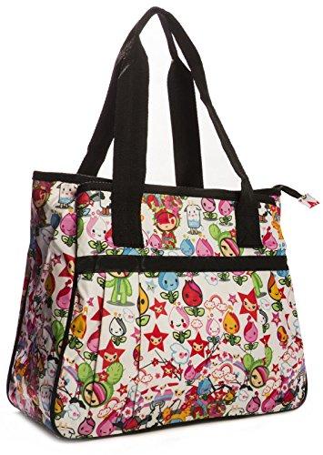 Big Handbag Shop , Sac mixte adulte Tote 865 - Tulip White