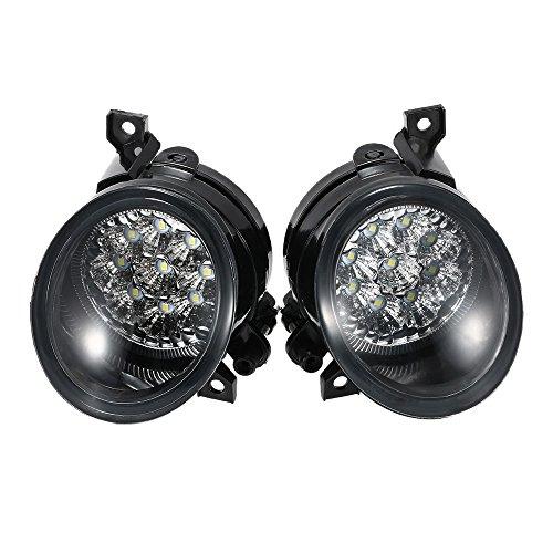 KKmoon Paar von 9 LED Licht Helle Weiße Nebelscheinwerfer Links & Rechts (Low-voltage-licht-kits)
