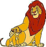 Stickersnews Aufkleber für Kinder, Motiv: Der König der Löwen, Ref. 5768, 30 cm