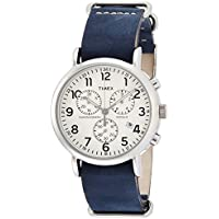 Timex Weekender Tw2P62100 Orologio da Polso Unisex - Chronograph Beige Dial