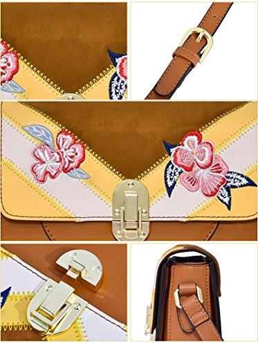 Kleine Braun ZCJB Schultertasche Paket Wild Fashion Quadratische Farbe Messenger Bag Einfache Braun Bag EEFqZP