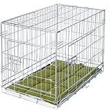 Faltbare Hundebox Transportkäfig mit Bettwäsche und 2Rollen–parent ASIN