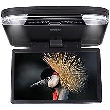 DDAUTO DD1556B Reproductor de DVD Sobrecarga 1080P HD IPS Pantalla Reproductor para Coche Con USB SD HDMI Incorporado Videojuegos Doble Cupula 15,6 Pulgadas