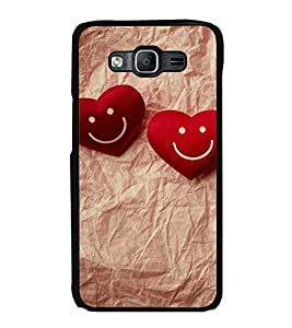 Fuson Premium 2D Back Case Cover Cute Hearts With Black Background Degined For Samsung Galaxy On5::Samsung Galaxy On5 G550FY