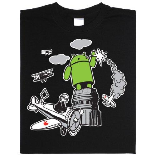 King Kong Android - Geek Shirt für Computerfreaks aus fair gehandelter Bio-Baumwolle Schwarz
