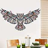 1pc Cartoon Eagle Hawk Wall Painted Tatoo Home Decor Owl Animal Children Baby Bedroom Wall Sticker For Kids Rooms 60*45cm