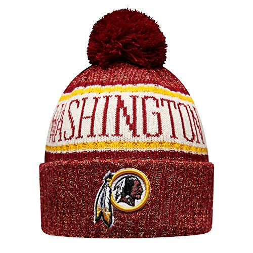 New Era ONF18 Sport Knit Bommelmütze Washington Redskins Rot, Size:ONE Size -