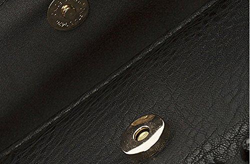 Heftklammerbeutel, Schulterbeutel, modischer Abendbeutel, Niethandbeutel, Art und Weisehandtaschen, Handbeutel ( Farbe : Gold ) Weiß