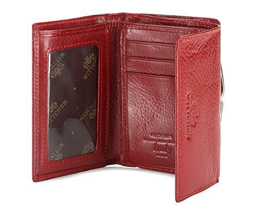WITTCHEN portafoglio, Rosso, Dimensione: 8x11 cm - Materiale: Pelle di grano - 21-1-053-3 Rosso