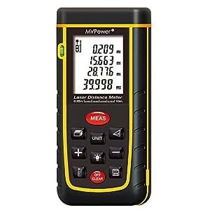 MVPower- RZ-A40 Telemetro Misuratore di Distanza Misura Metro Palmare Laser - 0.05 to 40m (0.16 to 131ft)