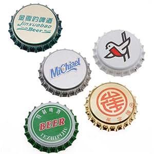 Assortiment de 50 capsules de bière pour créations scrapbooking - sans revêtement (50)